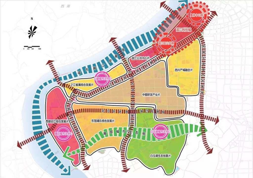 杭州高新区 滨江 分区规划 2017 2020年